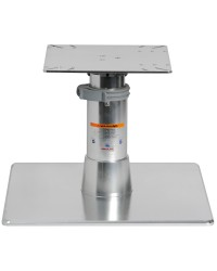 Support de table base inox 500x500 tri-télescopique coulissant au sol
