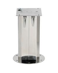 Pied de table tri-télescopique à gaz en inox pour table 325/620