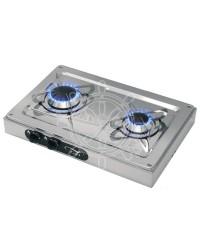Plaques de cuisson externes en inox 2 feux