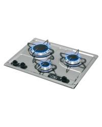 Plaques de cuisson en inox à encastrer 3 feux 470x360mm CAN