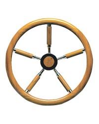 Barre à roue inox et couronne en teck 400mm