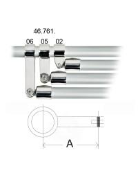 Articulation à fourche ø30 pour capotes à trois arceaux L73
