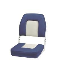 Siège avec dossier rabattable De Luxe Blanc et bleu