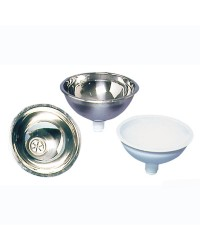 Vasque salle bain inox poli miroir 350x150mm (bonde 50.186.98)