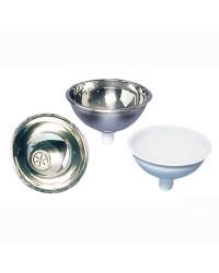 Vasque salle bain inox poli miroir 260x125mm (bonde 50.186.98)