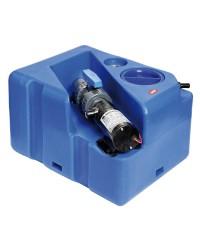 Centrale réservoir eaux noires - broyeur horizontal 40 litres - 24V