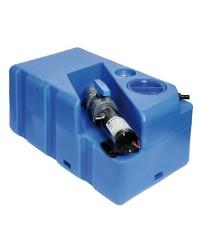 Centrale réservoir eaux noires - broyeur horizontal 60 litres - 12V