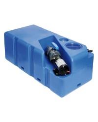 Centrale réservoir eaux noires - broyeur horizontal 105 litres - 24V