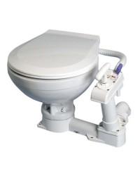 WC manuel en porcelaine - lunette plastique 450x410xh340mm