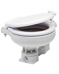WC manuel cuvette porcelaine et lunette plastique planc - space saver
