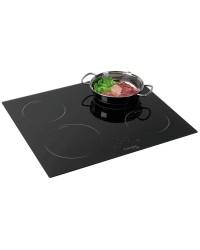 Plan de cuisson vitrocéramique 4 feux 58x51cm 220V