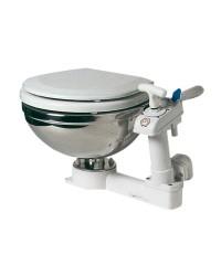 WC manuel inox - cuvette bois blanc 45x41xh34cm