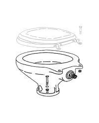 Cuvette en porcelaine de rechange pour WC électrique caréné version haute 50.218.01, 50.218.02, 50.213.03, 50.213.04