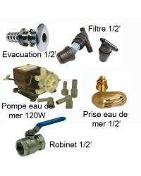 Kit accessoires eau mer pour version A, B ou C