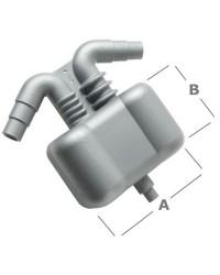 Séparateur eau/gaz 2,5L raccord gaz ø40/45/50mm - eau 15/38mm
