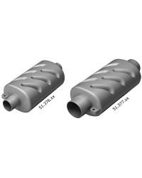 Pot d'échappement horizontal pour moteurs à refroidissement par eau ø90