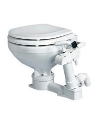 WC manuel - lunette large bois