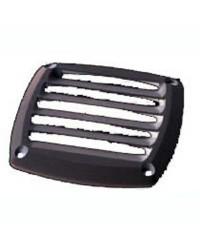 Grille d'aération pour prise d'air en ABS noire 85x85 mm