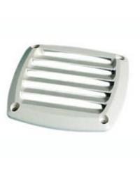 Grille d'aération pour prise d'air en ABS blanche 85x85 mm
