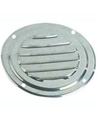 Grille d'aération circulaire en inox Ø 63 mm - avec moustiquaire