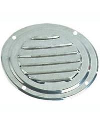 Grille d'aération circulaire en inox Ø 102 mm - avec moustiquaire