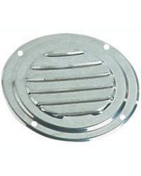 Grille d'aération circulaire en inox Ø 125 mm - avec moustiquaire