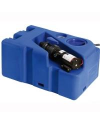 Réservoir d'eaux usées avec broyeur horizontal 50L - 12V
