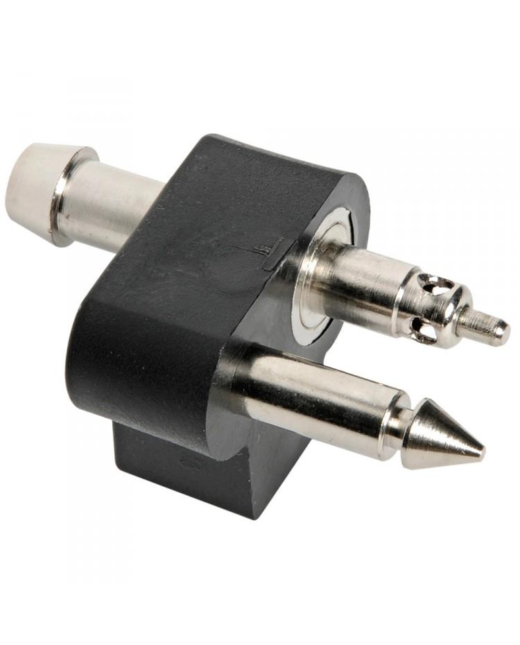 Branchement mâle JOHNSON/EVINRUDE coté moteur avec petite valve