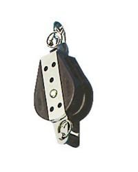 Poulie simple billes tournante avec manille à ringot pour corde de 10x38mm