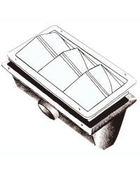 Caisson prise air 2 tuyaux Ø75mm pour 16.104.30/35