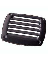 Grille d'aération pour prise d'air ABS noire 125x125 mm