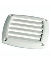 Grille d'aération pour prise d'air ABS blanche 125x125 mm