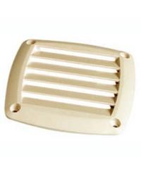 Grille d'aération pour prise d'air ABS crème 125x125 mm