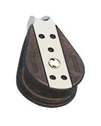 Poulie simple billes fixe pour corde de 10x38mm