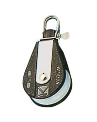 Poulie simple PLASTINOX tête fixe ou tournante pour corde 12xØ56mm