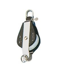 Poulie simple PLASTINOX avec ringot tête fixe ou tournante pour corde 12xØ56mm