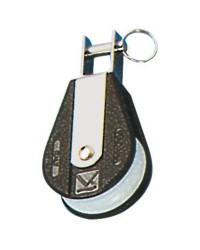 Poulie simple PLASTINOX tête en U pour corde 10xØ45mm