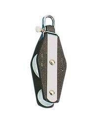 Poulie double PLASTINOX à violon tête fixe ou tournante pour corde 10xØ45mm