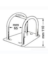Porte-tangon inox 110 mm