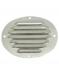 Grille d'aération ovale en inox poli 116x128mm