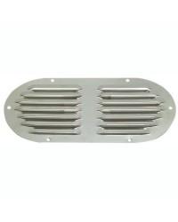 Grille d'aération ovale en inox poli 235x118mm