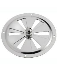 Aérateur circulaire en inox 127mm - sans moustiquaire