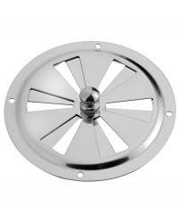 Aérateur circulaire en inox 127mm + moustiquaire