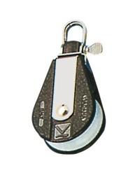 Poulie à billes simple fixe ou tournante pour bout de 10xØ45mm