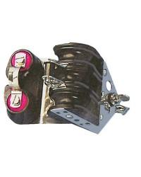 Poulie triple billes fixe à ringot + coinceur pour corde de 8x28mm