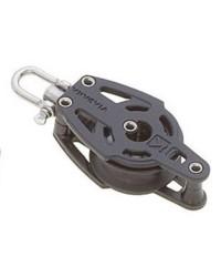 Poulie pivotante ou blocable avec ringot sur sphère pour bout de 10mm