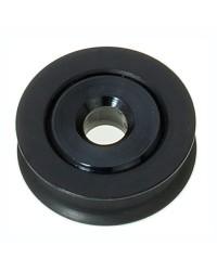 Réa à billes en aluminium/PTFE pour corde 4 mm - noir