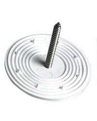Rondelle dentée pour fixation des antibruits aux plafonds ou sur parois