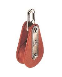 Poulie TUFNOL HYE simple à oeil pour corde de 14 mm