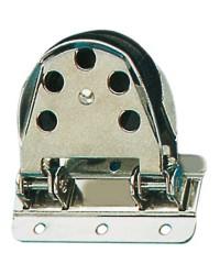 Poulie renvoi inox basculante Ø55 pour bout de 12mm